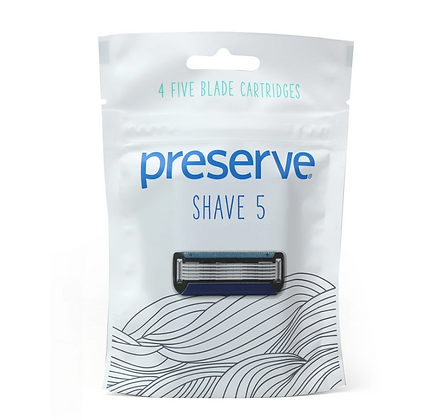 Preserve: Shave 5 Replacement Blades | 4 Blades