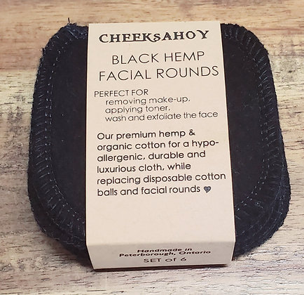 Cheeks Ahoy Hemp and Organic Cotton Facial Rounds