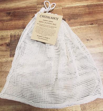 Cheeks Ahoy Organic Cotton Mesh Laundry Bag