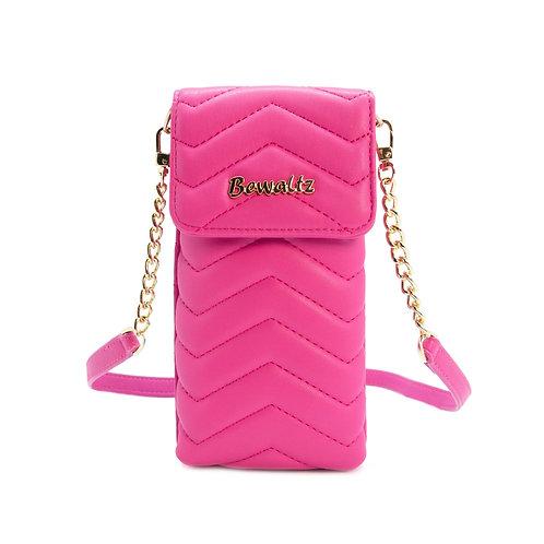 Carteira Mila Mini Crossbody Phone - rosa choque