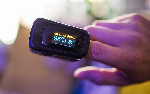 Medidor de oxigênio no sangue para uso doméstico / Oxímetro de pulso de dedo