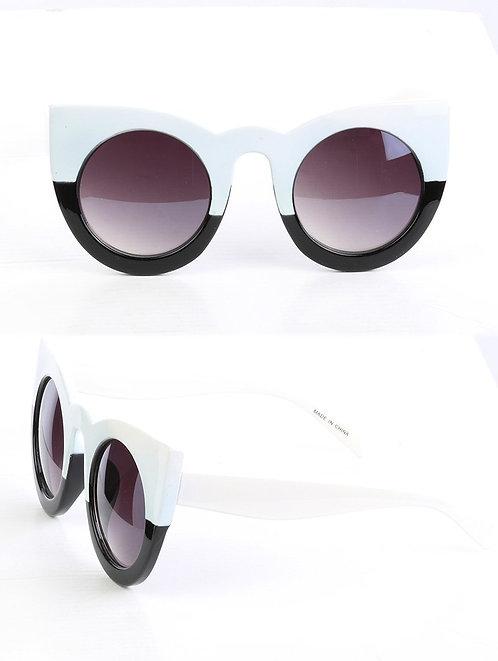 Óculos de sol Colorblock Cateyes