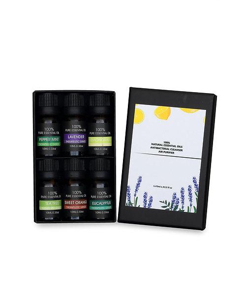 Óleos Essenciais - Pacote de 6 Perfumes - 100% Natural