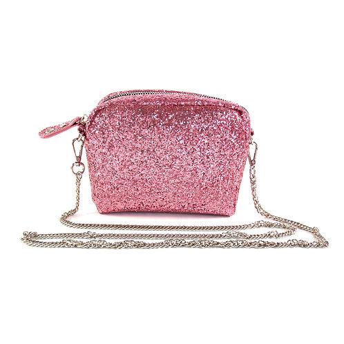 Bolsa Glitter Crossbody - Rosa