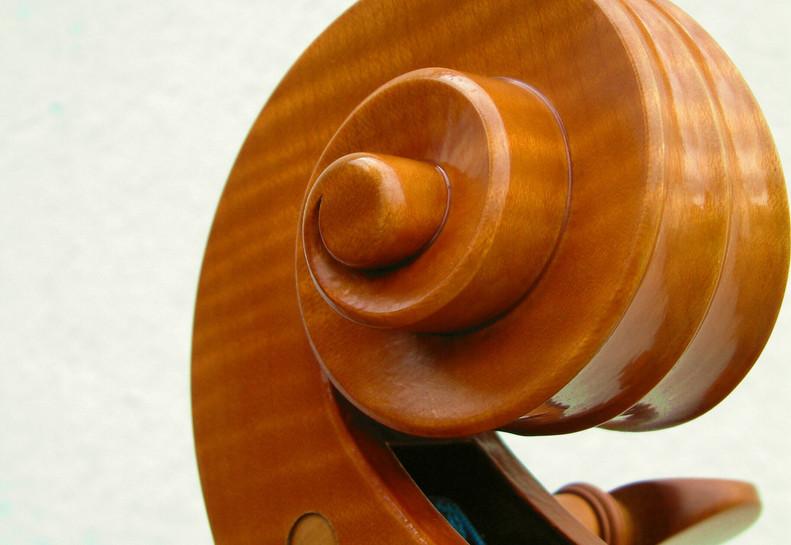 Cello Scroll by Mark Jennings