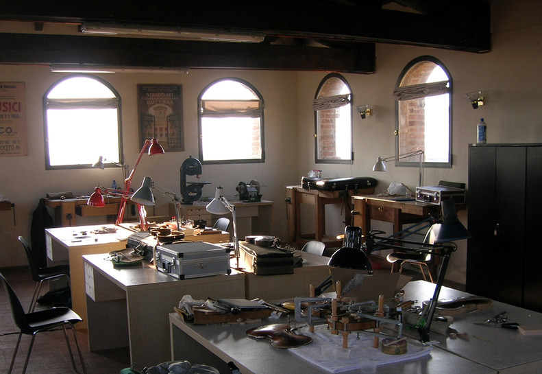 Inside the Parma Workshop.