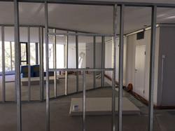 Glaseinbau in GKPL Wände