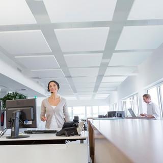 Akustikdecken sind die ideale Lösung für grosse Räume und die bewährteste Art und Weise, eine optimale Raumakustik herzustellen