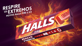 Novos Halls Fire & Ice - Respire os Extremos