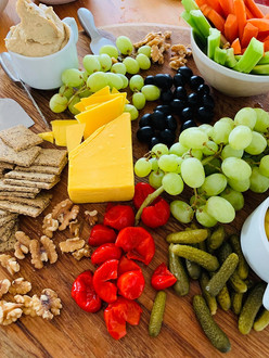 Plant based cheese board