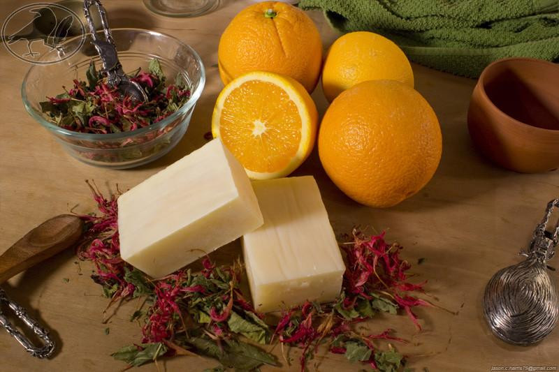Orange bergamot avocado soap