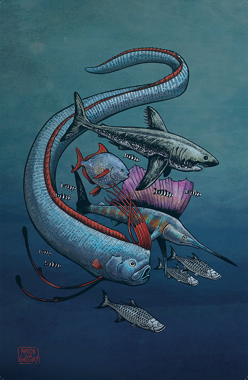 Art Print - Oarfish and Friends