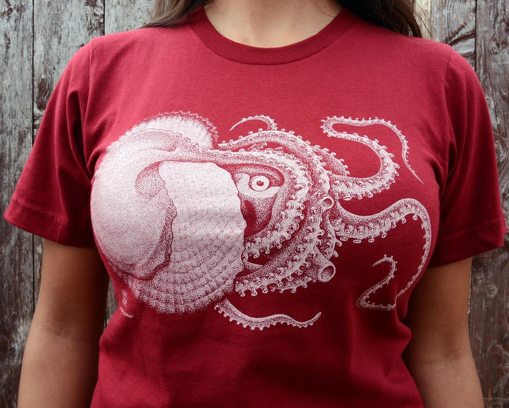 Cotton Crustacean's Argonaut Octopus shirt