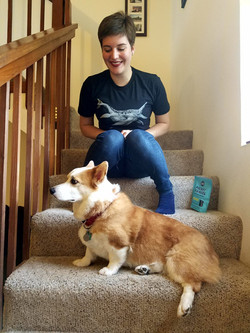 Amber with a Shoni & a Corgi