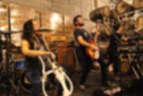 Jackie Perez Gratz, Aaron John Gregory, Andy Southard, Giant Squid, cello metal sludge metal rock