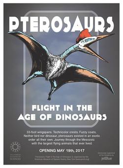 Mock Pterosaur exhibit poster
