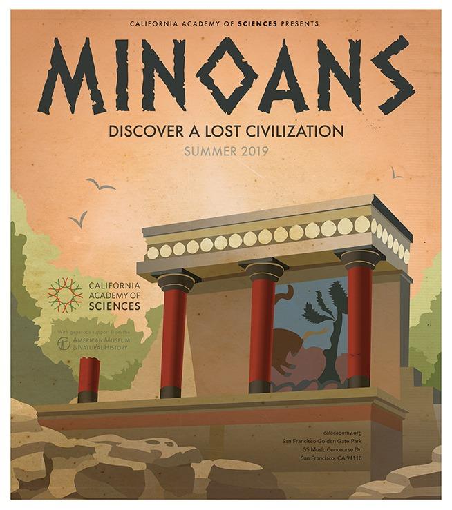 Mock Minoans exhibit poster