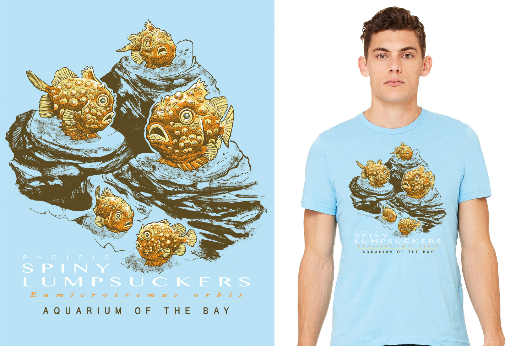 Aquarium of the Bay lumpsucker shirt