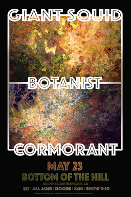 CORMORANT ADDED TO MAY 23rd SHOW w/ BOTANIST