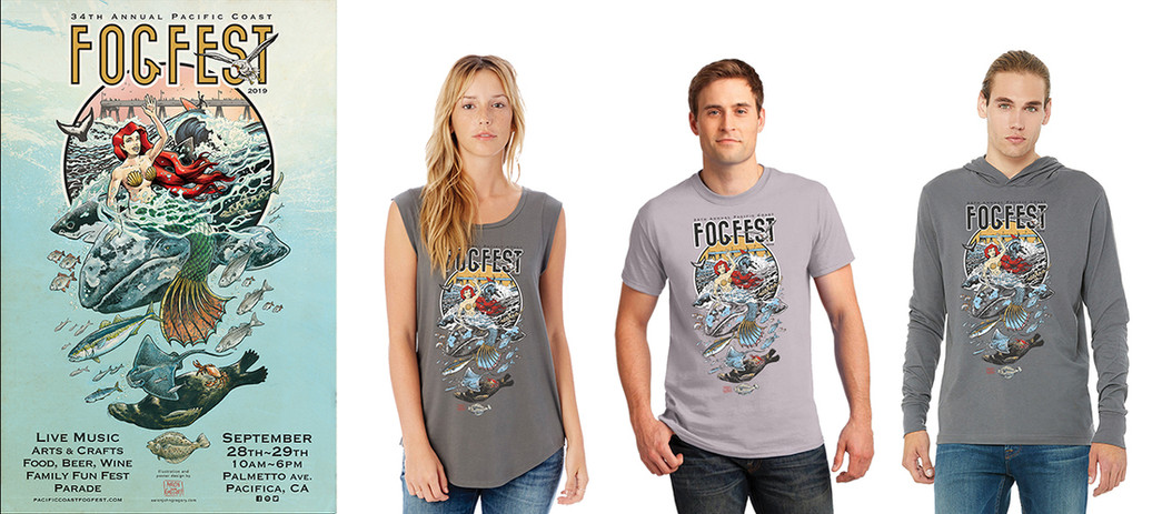 FOGFEST Poster and Shirt Designs