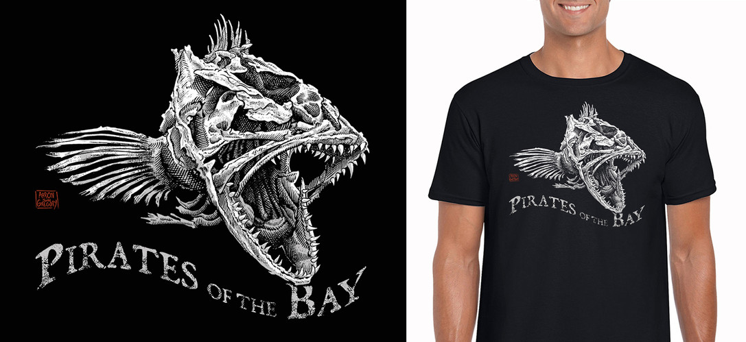 Pirates of the Bay - Lingcod Skull