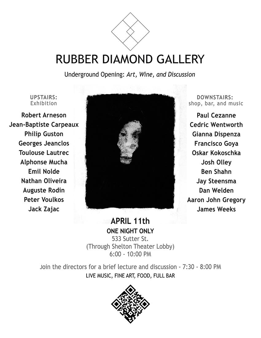 Rubber Diamond April 11th Show Flier