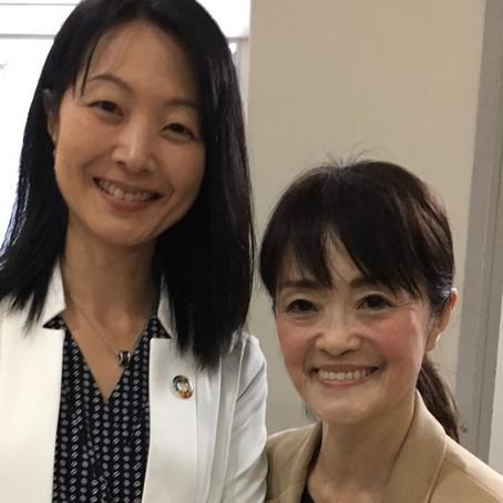 2018年11月10日内閣府 参事官 南 順子さんにご挨拶いたしました