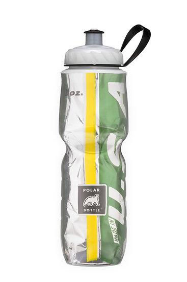 Garrafa Isotérmica 710ml - Verde e Amarelo