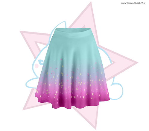 FAIRY KEI SPARKLE STARS  | SKATER SKIRT | ORIGINAL