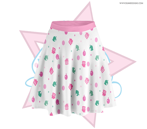 MULTI COLOR POP-TART | SKATER SKIRT | ANIMAL CROSSING | AC