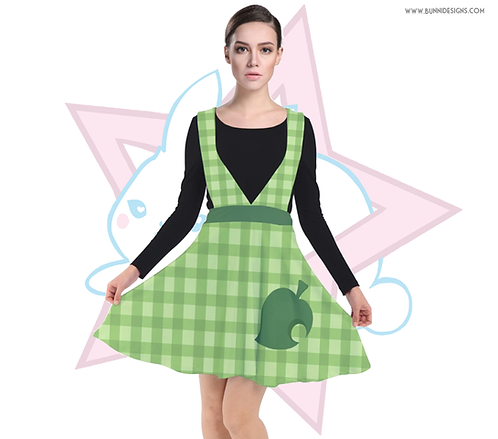 ISABELLE GINGHAM | PINAFORE PLUNGE DRESS | ANIMAL CROSSING | AC