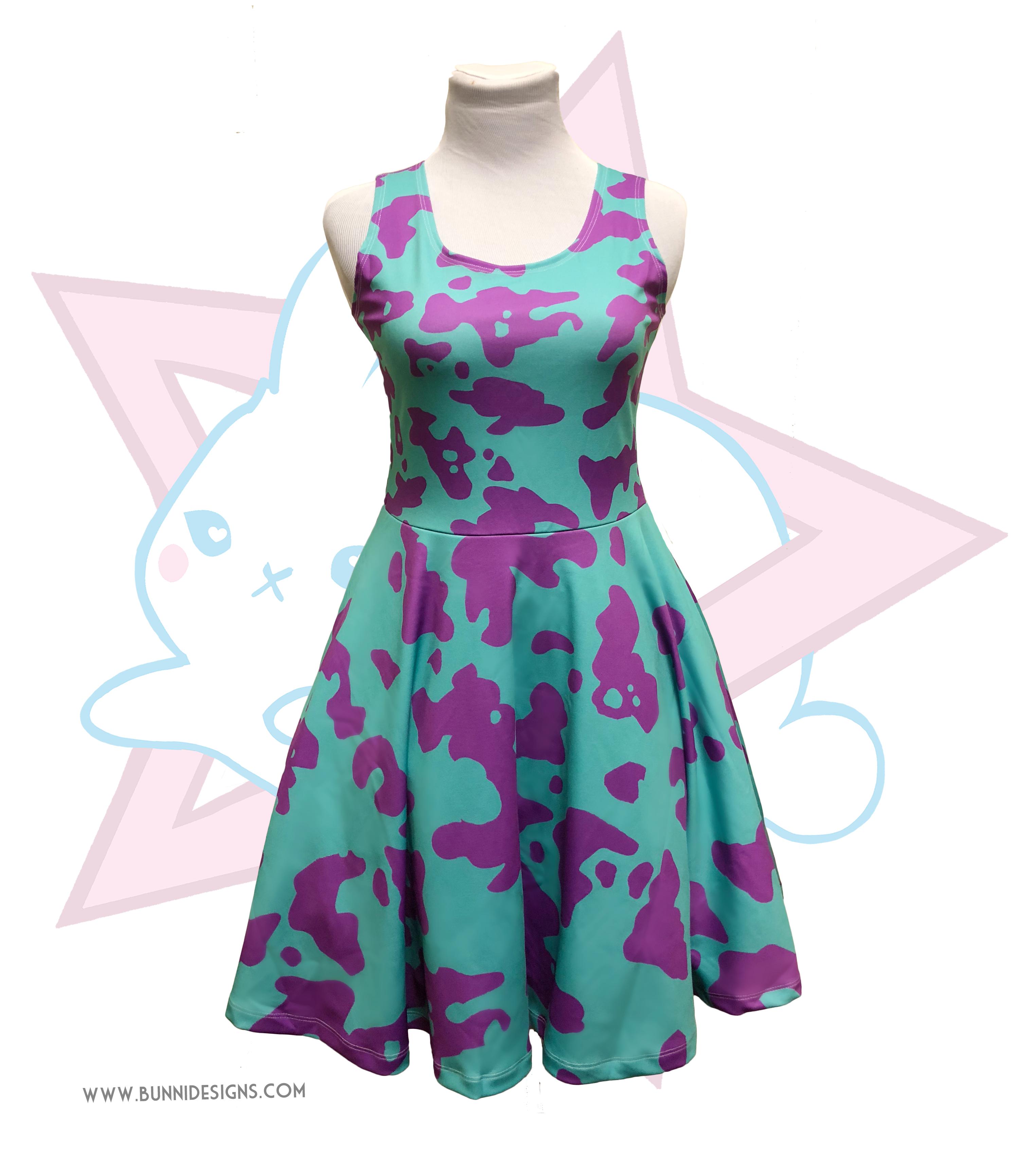 Mina Ashido Sleeveless Skater Dress My Hero Academia Bnha