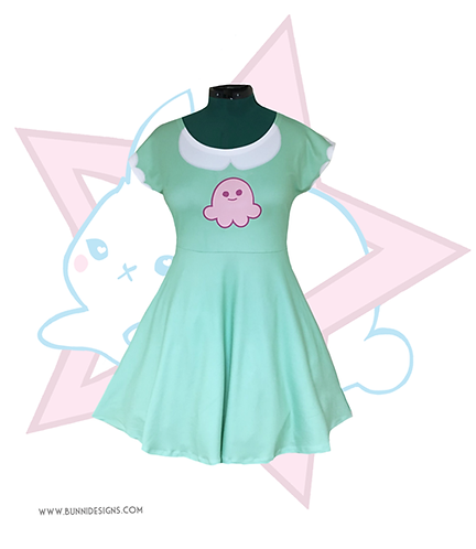 STAR BUTTERFLY SQUID | SHORT SLEEVE DRESS | STAR VS THE FORCES OF EVIL