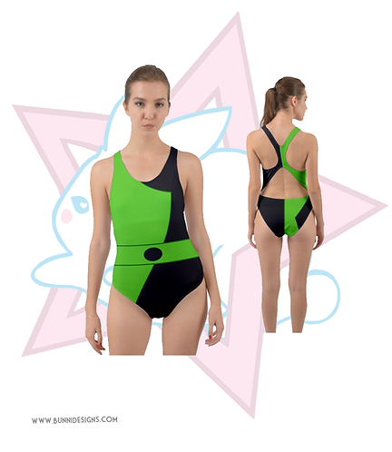SHEGO | OPEN BACK ONE PIECE SWIMSUIT | KIM POSSIBLE
