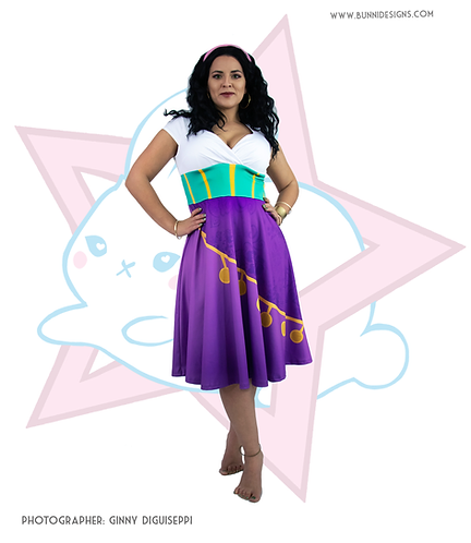 ESMERALDA | WRAP TOP MIDI DRESS | HUNCHBACK OF NOTRE DAME | DISNEY