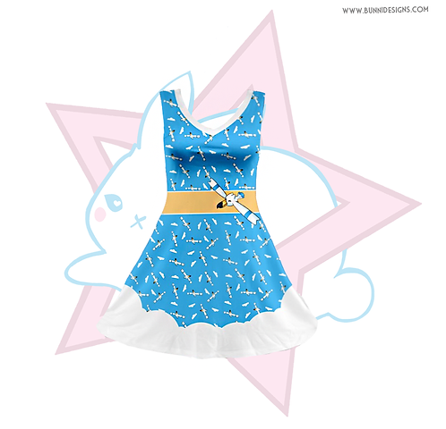 WINGULL | V-NECK SLEEVELESS SKATER DRESS | POKEMON
