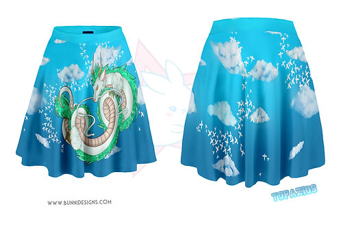 HAKU'S FLIGHT | SKATER SKIRT | STUDIO GHIBLI