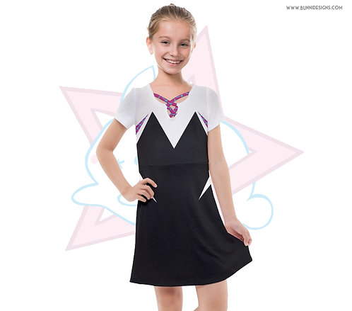 SPIDER GWEN | WEB DRESS | SPIDER MAN / SPIDER VERSE | KIDS