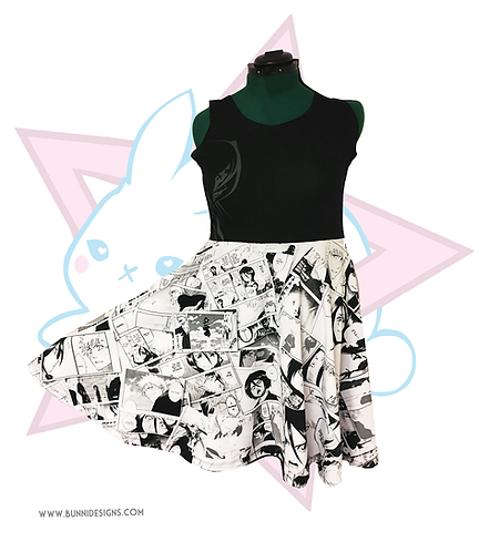 ICHIRUKI ( Ichigo X Rukia ) MANGA | SKATER DRESS | BLEACH