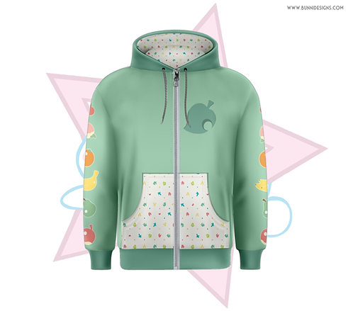 AC NEW HORIZONS | ZIPPER OVER HOODIE | ANIMAL CROSSING