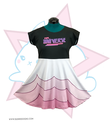 ROSE QUARTZ MR.UNIVERSE | SHORT SLEEVE DRESS | STEVEN UNIVERSE
