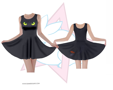 TOOTHLESS | SKATER DRESS | HOW TO TRAIN YOUR DRAGON | HTTYD