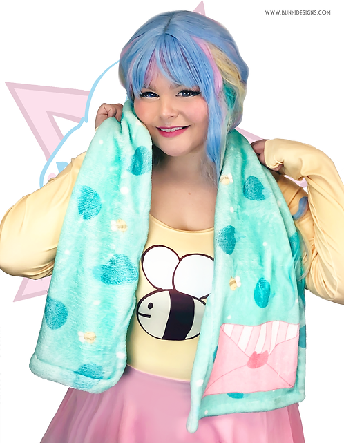 BEE EGGPLANT | WINTER SCARF | BEE AND PUPPYCAT