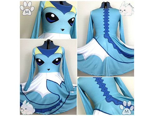 VAPOREON GIJINKA | LONG SLEEVE SKATER DRESS | POKEMON