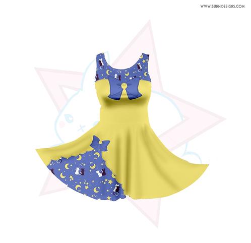 MOON KITTIES - ARTEMIS & LUNA  | SKATER DRESS | SAILOR MOON