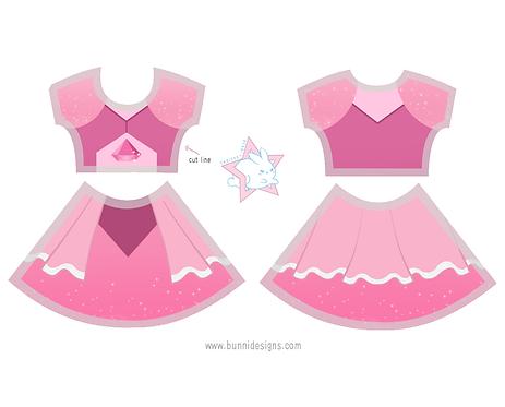 PINK DIAMOND | SHORT SLEEVE DRESS | STEVEN UNIVERSE
