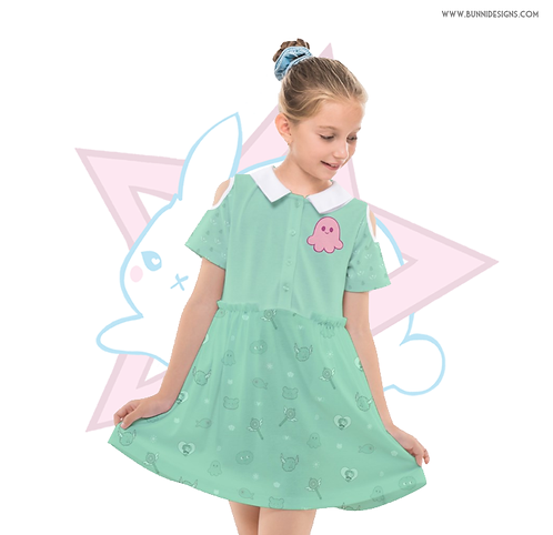 STAR BUTTERFLY SQUID | CUT OUT SLEEVE DRESS | SVTFOE | KIDS