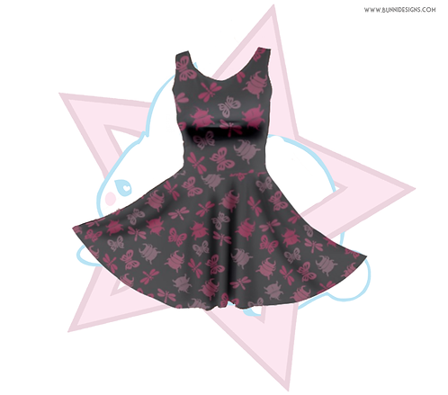 BUG OFF ALOHA INC PATTERN | SKATER DRESS | ANIMAL CROSSING