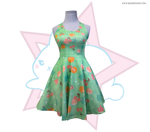 AC FRUIT GINGHAM | SKATER DRESS | ANIMAL CROSSING