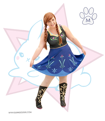 ANNA | SKATER DRESS | FROZEN